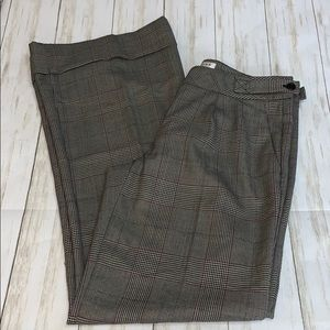 Size 4 Trina Turk Plaid Career Trousers